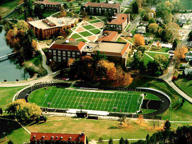 1990s aerial of Muskingum College